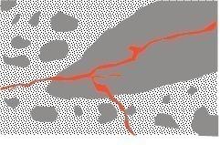 "<span class=""bildunterschrift_hervorgehoben"">5</span>Cracks in the aggregate grain and the surrounding cement paste caused by ASR (scheme) [11]<br />"