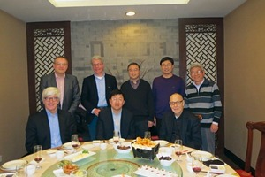 """<div class=""""bildtext_en"""">2 The delegation of the Bundesverband der Gipsindustrie with their Chinese hosts (from l. to r.): Thomas Bremer (Chairman of the Bundesverband der Gipsindustrie, MD of VG-Orth), Holger Ortleb (Managing Director of the Bundesverband der Gipsindustrie), Heinz-Jacob Holland (MD of Fermacell), Sun Tieshi (Chairman of the Chinese Gypsum Association), Luoyi Xu (General Secretary of the Chinese Gypsum Association, Sinoma), Yang Zaiyin (Deputy General Secretary of the Chinese Gypsum Association), Prof. Dr. Hans-Ullrich Hummel (Knauf), Prof. Dr. Wang Junfeng (Hainan University)</div>"""