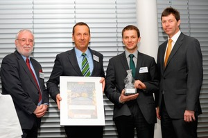 Prof. Leopold Weber (BMWFJ – Federal Ministry of Economy, Family and Youth), Mag. Rudolf Zrost, Dr. Günter Waldl (both LEUBE), DI Günther Liebel (Ministry of the Environment); from left