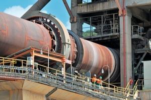 Ofenlinie im Zementwerk Argos in Brasilien<br />
