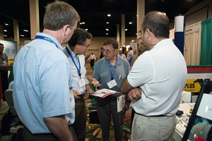 """<div class=""""bildunterschrift_en"""">Time and opportunity for technical discussions were given at the parallel held exhibition</div>"""