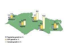 """<span class=""""bildunterschrift_hervorgehoben"""">2</span>A comparison of growth rates (2010) • Wachstumsraten (2010) im Vergleich"""
