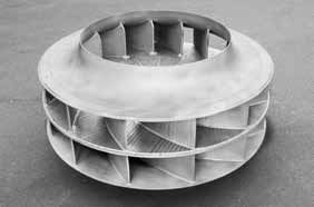 1 Wear-protected impeller for the separator fan in a cement grinding plant<br /><br /><br />