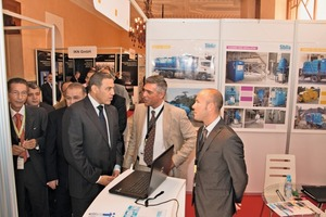 """<div class=""""bildtext_en"""">Dr. Abdeslam Bikrat, Wali and Governor ofMarrakesh (3rd from right) on his way through theexhibition</div>"""