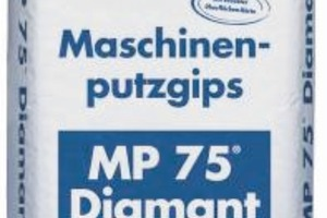 "<span class=""bildunterschrift_hervorgehoben"">1</span>	MP 75 machine-applied plaster with increased surface strength<br />"