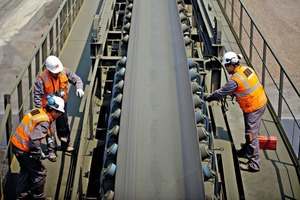 """<div class=""""bildtext_en"""">Martin Engineering's Walk the Belt<sup>TM</sup> program provides scheduled reviews of conveyor systems to maximize productivity and service life</div>"""