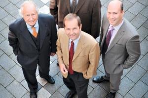 Dr. Heinz Weiken (links), Raymund Risse (oben), Franz-Bernd Köster (vorne), Christian Weiken (rechts)<br />