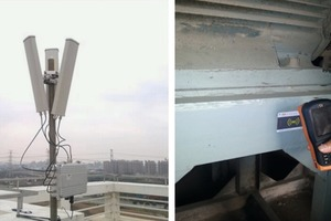 """<div class=""""bildtext_en"""">7 The structure of the wireless network and intelligence patrol monitor in the plant</div><div class=""""bildtext_en"""">Left: The wireless network base station</div><div class=""""bildtext_en"""">Right: The intelligent patrol monitor</div>"""