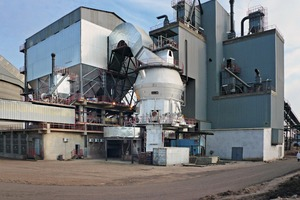 A Loesche mill type LM 56.3+3 CS in a cement plant in Settat/Morocco