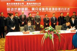 Unterzeichnung des Kooperationsabkommens<br />
