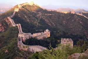 Built on ground prepared with lime: The Great Wall of China <br />