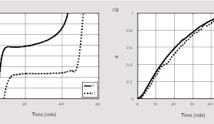 "<div class=""bildtext_en"">10 Comparison of the temperature (a) and (b) conversion (c) profiles for two different limestone particles at a constant kiln temperature of 1050 °C</div>"
