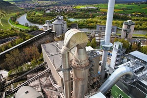 "<div class=""bildtext_en"">Panorama of the 70-m-high heat exchanger tower. The Lengfurt cement plant has been a feature in the region since 1899, the aspects of environmental protection and energy efficiency are firmly anchored in the company philosophy</div>"