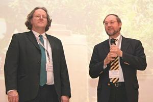 "<span class=""bildunterschrift_hervorgehoben"">3</span>Introductory lecture by Ferdinand Leopolder (left) and Prof. Dr. Johann Plank<br />"