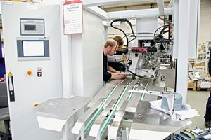 Endmontage eines RADIMATS<sup>®</sup> mit modernster MECIII-Wägetechnik