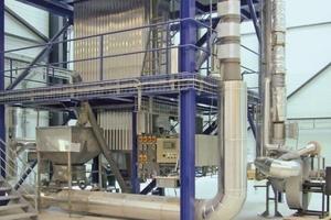 10-m-Gewebefilter von FLSmidth und Versuchseinrichtung für Schlauchstandzeiten