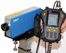 Together with the SKF Microlog series, the new MSL-7000 laser vibrometer also permits mobile condition monitoring in measuring situations where many conventional sensors fail <br />