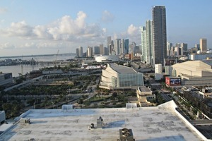 1 The rooftop pool at the Hilton Miami Downtown offered a breathtaking view