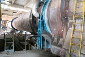 Kernstück des Zementwerks bilden die zwei Drehrohröfen<br />