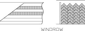 3 Illustration of the windrow method
