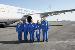 "<div class=""bildtext_en"">3 Together with four Ph.D. students Prof. Plank experienced a number of zero gravity flights</div>"