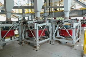 Bypassstaub und Gipsdosierung auf die Zementmühle mit 6 Pfister FRW<br />