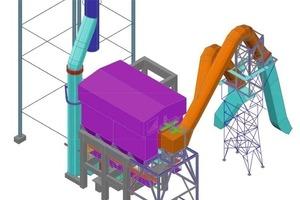 Plan der gesamten Anlage einschließlich Tragkonstruktionen<br />