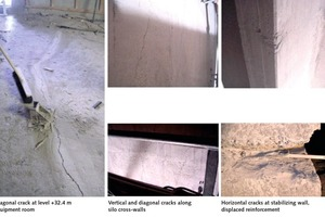 "<div class=""bildtext_en"">6 Wide cracks in the mechanical room at level +32.40 m to +36.50 m</div>"