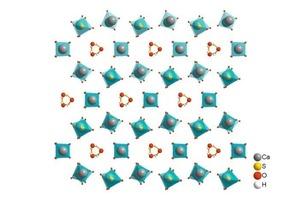 """<div class=""""E_Bildunterschrift""""><span class=""""bildunterschrift_hervorgehoben"""">1</span>Crystal structure of a) calcium sulfate hemidydrate [12] and b) anhydrite III (right) [13]</div>"""