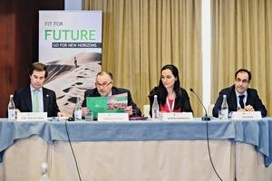 "<div class=""bildtext_en"">3 Some of the speakers at the congress. Left to right: MEP Jose Ignacio Faria, Carlos Duarte, Beatriz Marques, Luis Silva</div>"