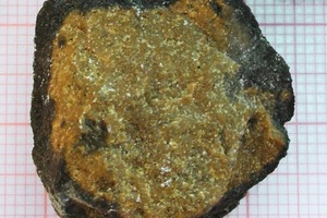 "<span class=""bildunterschrift_hervorgehoben"">2</span>Clinker granule produced under reducing burning conditions(Foto: Baier 2003)<br />"