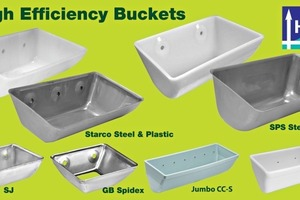 "<div class=""bildunterschrift_en"">Examples of ""High ­Efficiency"" elevator buckets</div>"