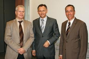 Die Geschäftsführung der BG RCI (v.l.): Theodor Bülhoff, Thomas Köhler und Ulrich Meesmann<br />