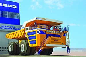 """<div class=""""bildtext_en"""">With a capacity of 500tons, the BelAZ-75710 has taken over the position of World's largest mining truck. Siemens delivered the first drive system for this titan</div>"""