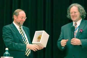 Prof. Plank (links) und Ferdinand Leopolder auf der idmmc two<br />