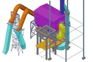 Plan mit Einzelheit des Gewebefilters (in orange)<br />