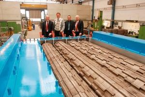 From left/von links: Thomas Nagel (Operations Director), Stephan Oehme (Sales and Technology Director), Alfred G. Astle (After Market Director), Reiner Frühling (Managing Director)<br />