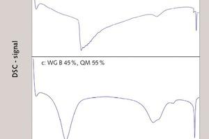 """<div class=""""bildtext_en"""">9 DSC measurement curves of mixtures after heat treatment at 100°C (12h), """"time lapse"""" preparation</div>"""