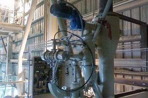 Insitec-online-Partikelgrößenmessgerät an einer Prozesslinie