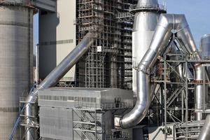 Schlauchfilter zur Ofenentstaubung bei Qassim Cement (FLS Airtech)<br />