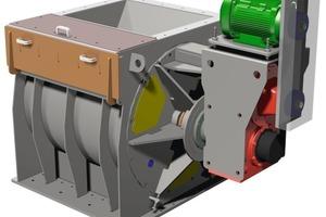XXL cutter rotary vane feeder in 3 D design<br />