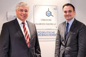 "<div class=""bildtext_en"">Norbert Schröter, General Manager of the German Construction Chemistry, and Martin Ludescher, the new association´s representative in Brussels </div>"