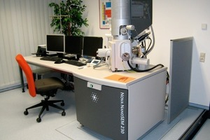 "<span class=""bildunterschrift_hervorgehoben"">1</span>FE-SEM: Nova NanoSEM 230 installed at the SEM laboratory"