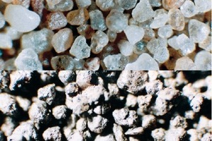 """<div class=""""bildtext_en"""">3 Sand (top) and used foundry sand (bottom)</div>"""