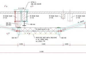 """<div class=""""bildtext_en"""">13 Post tensioning of secondary beams, sectional view</div>"""