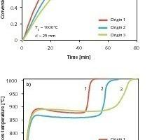 Umsatzgrad und Kalzinierungstemperatur der Kalksteine unterschiedlicher Herkunft<br />