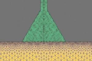"<span class=""bildunterschrift_hervorgehoben"">3</span>Unstructured computational mesh<br />"