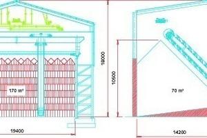Bei gleicher Höhe der Lagerhalle kann ein größeres Volumen erreicht werden