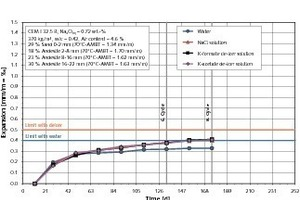 AKR-Performance-Prüfung einer Betonzusammensetzung für Fahrbahndecken und Flugbetriebsflächen mit Andesit-Splitt<br />